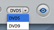 DVD 5 and DVD 9 option